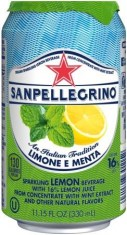 SanPellegrino Sparkling Limone E Menta Lemon and Mint 330 ml Can FR